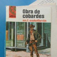 Cómics: OBRA DE COBARDES. COLECCION CALIFORNIA Nº 515. BRUGUERA. M. L. ESTEFANIA.1966.PUBLICIDAD VETERANO. Lote 110116643