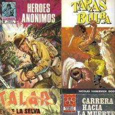 Cómics: LOTE CUATRO NOVELAS DE BOLSILLO AÑOS OCHENTA. Lote 110471979