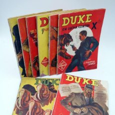 Cómics: HOMBRES AUDACES NUEVOS HÉROES DUKE LOTE 1 A 10, SALVO NºS 3 Y 8 (J. FIGUEROA CAMPOS) MOLINO, 1943. Lote 114952783