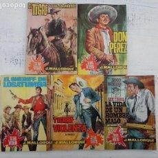 Cómics: TIERRA VIOLENTA - JIBARO - JOSÉ MALLORQUÍ - NºS - 3,6,7,10,15 - EDICIONES CID 1964, MUY NUEVOS. Lote 113291635