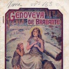 Cómics: A. CONTRERAS : GENOVEVA DE BRABANTE CUADERNO Nº 1 (CASTRO, C. 1930). Lote 116494083