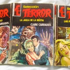 Cómics: TRES NOVELAS DE TERROR, DE CLARK CARRADOS, AÑOS 75-76. Lote 116841247
