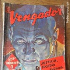 Cómics: EL VENGADOR, JUSTICIA SOCIEDAD ANONIMA- K. ROBESON- COLECCION HOMBRES AUDACES Nº 176 ED. MOLINO 1948. Lote 120325659