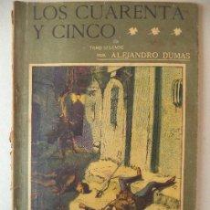 Cómics: NOVELA POPULAR.DOS TOMOS 1ºY2º:LOS CUARENTA Y CINCO A.DUMAS LA NOVELA ILUSTRADA. Lote 121984227