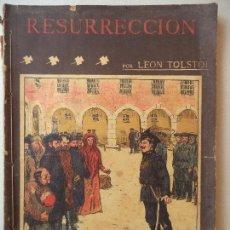 Cómics: NOVELA POPULAR RESURRECCION LEON TOLSTOI LA NOVELA ILUSTRADA. Lote 121984507