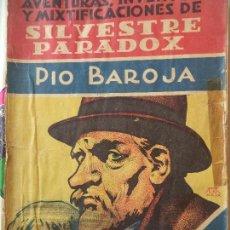 Cómics: NOVELA POPULAR AVENTURAS,INVENTOS Y MIXTIFICACIONES DE SILVESTRE PARADOX PIO BAROJAEDITORIAL ESTAMPA. Lote 121985039