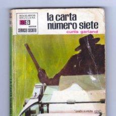 Cómics: SERVICIO SECRETO. AUTOR: CURTIS GARLAND. NÚMERO 1081: LA CARTA NÚMERO SIETE. Lote 126060151