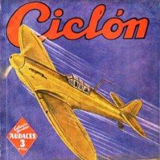 Cómics: AVILÉS BALAGUER : CICLÓN ALAS DORADAS - HOMBRES AUDACES MOLINO, 1943. Lote 129743243