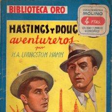 Cómics: LIVINGSTON HAHN : HASTINGS Y DOUG AVENTUREROS (BIBLIOTECA ORO AZUL MOLINO, 1947). Lote 132218318