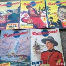 Cómics: COLECCION NARRACIONES -- NUMEROS : 2 / 4 / 7 / 8 / 9 -- EDITORIAL CIES 1945 / 46 -- MUY DIFICIL --. Lote 141458498