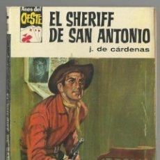 Cómics: EL SHERIFF DE SAN ANTONIO. J.DE CARDENAS. COL. ASES DEL OESTE Nº 370. ED. BRUGUERA 1966. 1ª ED.. Lote 141548626
