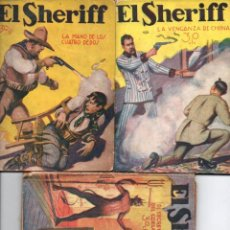 Cómics: TRES NÚMEROS EL SHERIFF (1932). Lote 142438082