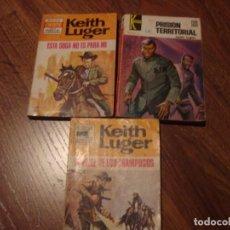 Cómics: LOTE TRES NOVELAS DE OESTE DE KEITH LUGER. Lote 143905226