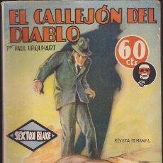 Fumetti: NOVELA COLECCION LA NOVELA AVENTURA SEXTON BLAKE EL CALLEJON DEL DIABLO. Lote 144229858