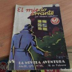 Cómics: EL MIEDO ERRANTE. LA NOVELA AVENTURA Nº 66 (COIM18). Lote 147094410