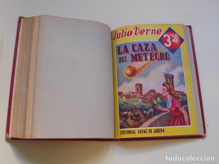 DOS TOMOS ENCUADERNADOS CON 12 NOVELAS PULP DE JULIO VERNE DE LA EDITORIAL SÁENZ DE JUBERA - C. 1940 (Tebeos, Comics y Pulp - Pulp)