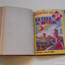Cómics: DOS TOMOS ENCUADERNADOS CON 12 NOVELAS PULP DE JULIO VERNE DE LA EDITORIAL SÁENZ DE JUBERA - C. 1940. Lote 147142546