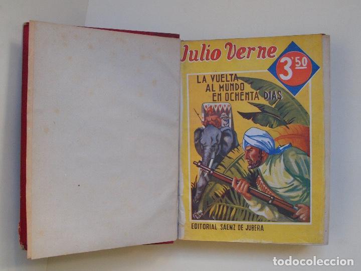Cómics: DOS TOMOS ENCUADERNADOS CON 12 NOVELAS PULP DE JULIO VERNE DE LA EDITORIAL SÁENZ DE JUBERA - c. 1940 - Foto 5 - 147142546