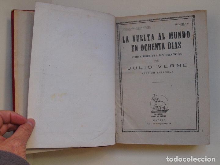 Cómics: DOS TOMOS ENCUADERNADOS CON 12 NOVELAS PULP DE JULIO VERNE DE LA EDITORIAL SÁENZ DE JUBERA - c. 1940 - Foto 6 - 147142546