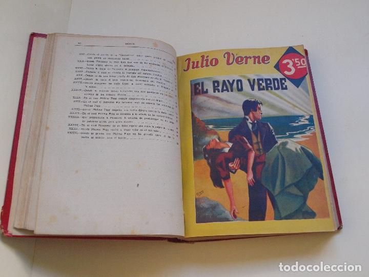 Cómics: DOS TOMOS ENCUADERNADOS CON 12 NOVELAS PULP DE JULIO VERNE DE LA EDITORIAL SÁENZ DE JUBERA - c. 1940 - Foto 8 - 147142546