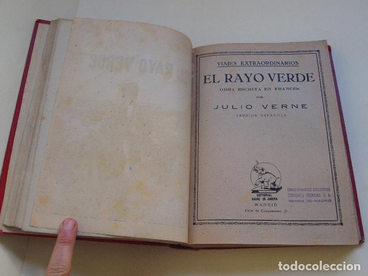 Cómics: DOS TOMOS ENCUADERNADOS CON 12 NOVELAS PULP DE JULIO VERNE DE LA EDITORIAL SÁENZ DE JUBERA - c. 1940 - Foto 9 - 147142546