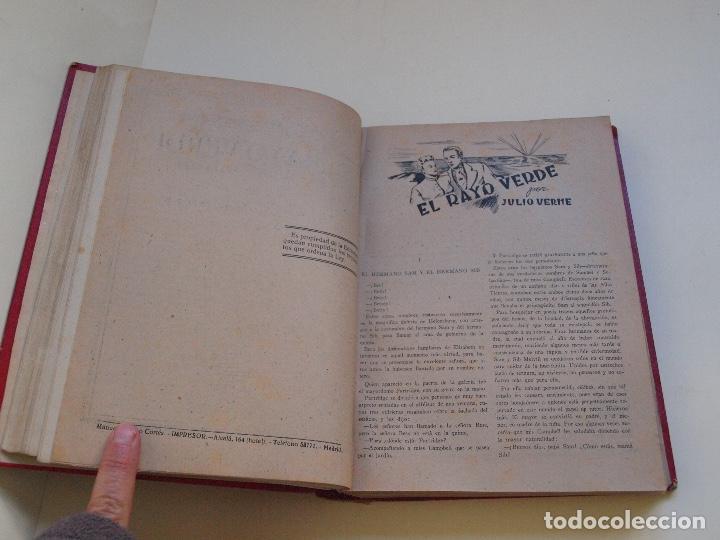 Cómics: DOS TOMOS ENCUADERNADOS CON 12 NOVELAS PULP DE JULIO VERNE DE LA EDITORIAL SÁENZ DE JUBERA - c. 1940 - Foto 10 - 147142546