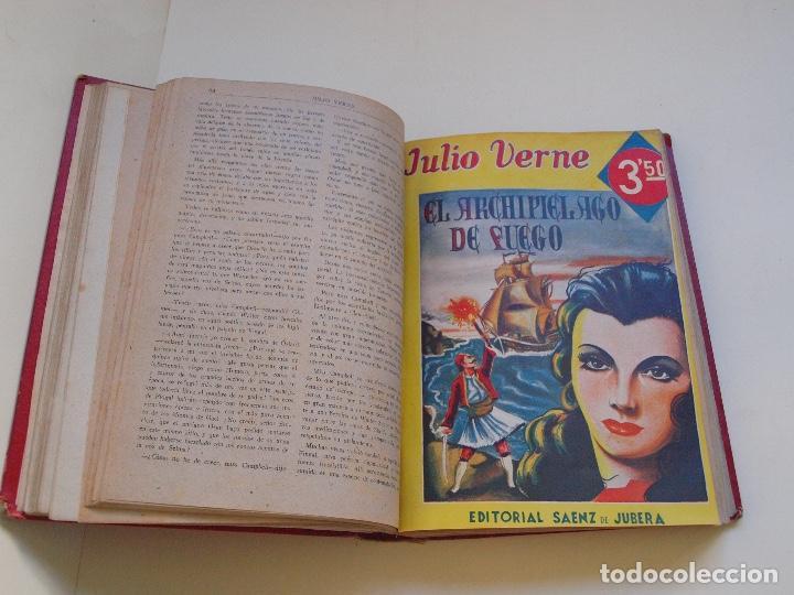 Cómics: DOS TOMOS ENCUADERNADOS CON 12 NOVELAS PULP DE JULIO VERNE DE LA EDITORIAL SÁENZ DE JUBERA - c. 1940 - Foto 11 - 147142546