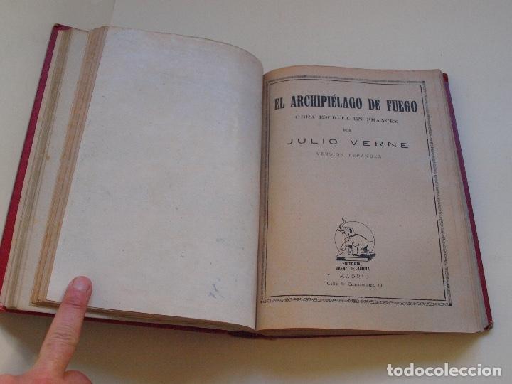 Cómics: DOS TOMOS ENCUADERNADOS CON 12 NOVELAS PULP DE JULIO VERNE DE LA EDITORIAL SÁENZ DE JUBERA - c. 1940 - Foto 12 - 147142546