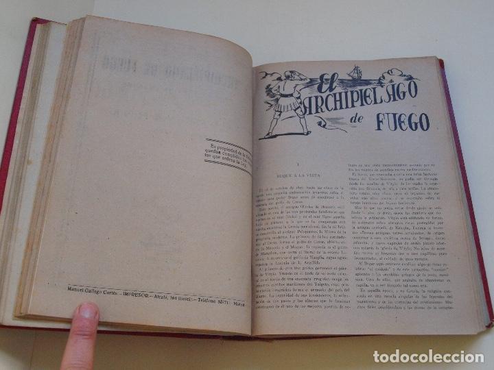 Cómics: DOS TOMOS ENCUADERNADOS CON 12 NOVELAS PULP DE JULIO VERNE DE LA EDITORIAL SÁENZ DE JUBERA - c. 1940 - Foto 13 - 147142546