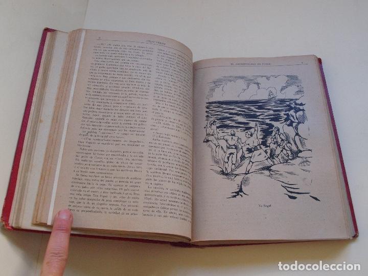 Cómics: DOS TOMOS ENCUADERNADOS CON 12 NOVELAS PULP DE JULIO VERNE DE LA EDITORIAL SÁENZ DE JUBERA - c. 1940 - Foto 14 - 147142546