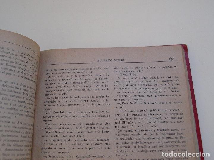 Cómics: DOS TOMOS ENCUADERNADOS CON 12 NOVELAS PULP DE JULIO VERNE DE LA EDITORIAL SÁENZ DE JUBERA - c. 1940 - Foto 16 - 147142546
