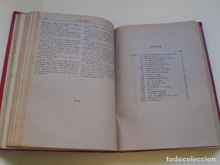 Cómics: DOS TOMOS ENCUADERNADOS CON 12 NOVELAS PULP DE JULIO VERNE DE LA EDITORIAL SÁENZ DE JUBERA - c. 1940 - Foto 17 - 147142546