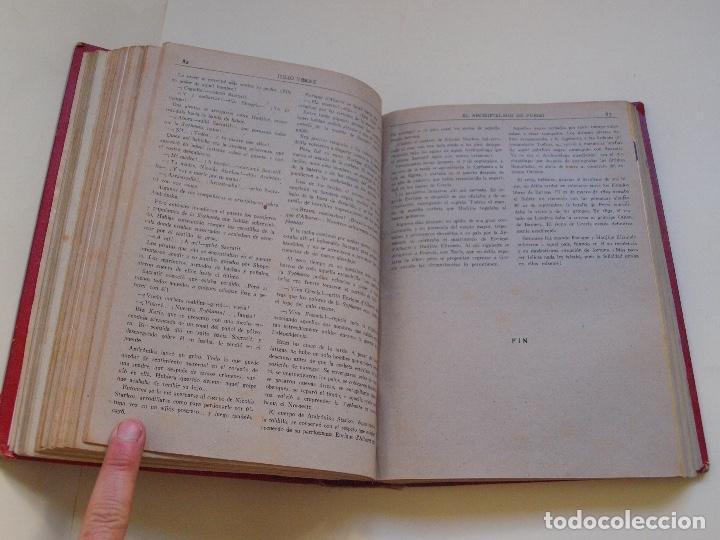 Cómics: DOS TOMOS ENCUADERNADOS CON 12 NOVELAS PULP DE JULIO VERNE DE LA EDITORIAL SÁENZ DE JUBERA - c. 1940 - Foto 19 - 147142546