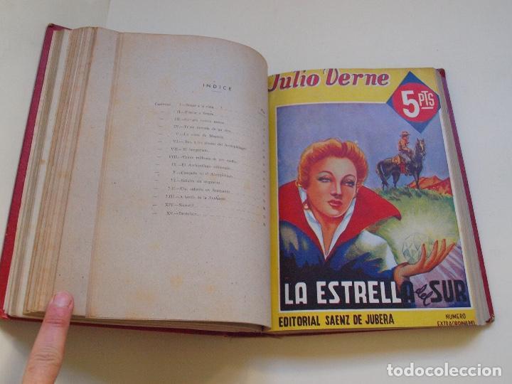 Cómics: DOS TOMOS ENCUADERNADOS CON 12 NOVELAS PULP DE JULIO VERNE DE LA EDITORIAL SÁENZ DE JUBERA - c. 1940 - Foto 20 - 147142546