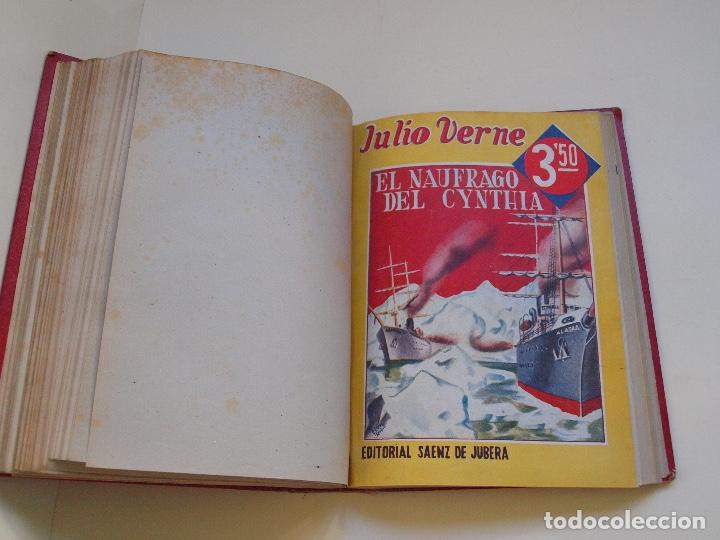 Cómics: DOS TOMOS ENCUADERNADOS CON 12 NOVELAS PULP DE JULIO VERNE DE LA EDITORIAL SÁENZ DE JUBERA - c. 1940 - Foto 24 - 147142546