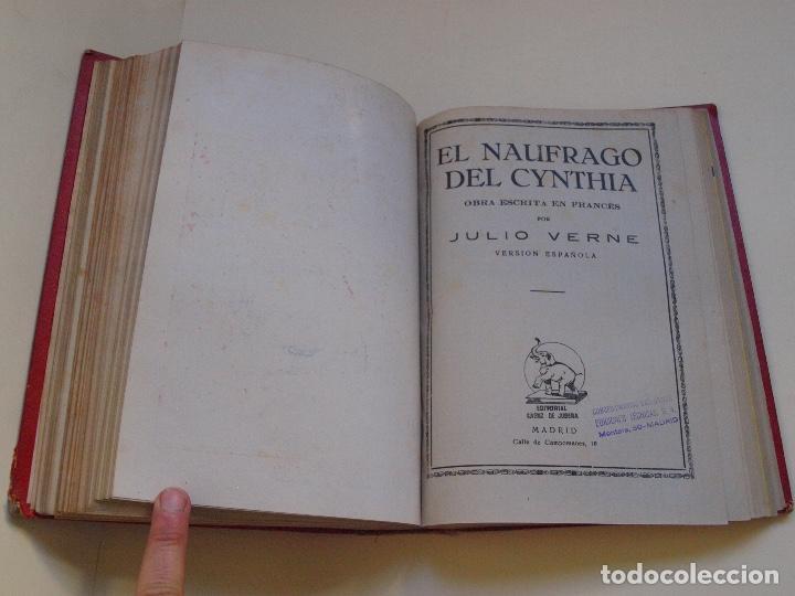 Cómics: DOS TOMOS ENCUADERNADOS CON 12 NOVELAS PULP DE JULIO VERNE DE LA EDITORIAL SÁENZ DE JUBERA - c. 1940 - Foto 25 - 147142546