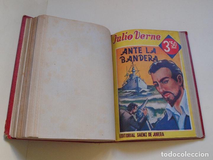 Cómics: DOS TOMOS ENCUADERNADOS CON 12 NOVELAS PULP DE JULIO VERNE DE LA EDITORIAL SÁENZ DE JUBERA - c. 1940 - Foto 28 - 147142546