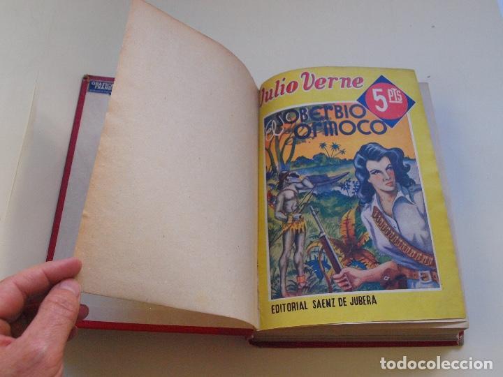 Cómics: DOS TOMOS ENCUADERNADOS CON 12 NOVELAS PULP DE JULIO VERNE DE LA EDITORIAL SÁENZ DE JUBERA - c. 1940 - Foto 38 - 147142546