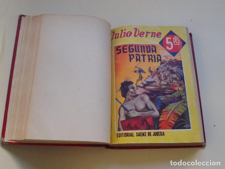 Cómics: DOS TOMOS ENCUADERNADOS CON 12 NOVELAS PULP DE JULIO VERNE DE LA EDITORIAL SÁENZ DE JUBERA - c. 1940 - Foto 42 - 147142546