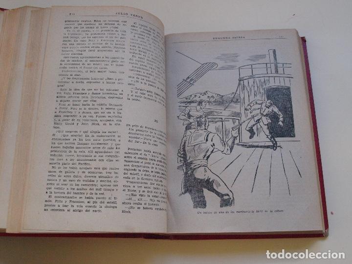 Cómics: DOS TOMOS ENCUADERNADOS CON 12 NOVELAS PULP DE JULIO VERNE DE LA EDITORIAL SÁENZ DE JUBERA - c. 1940 - Foto 44 - 147142546