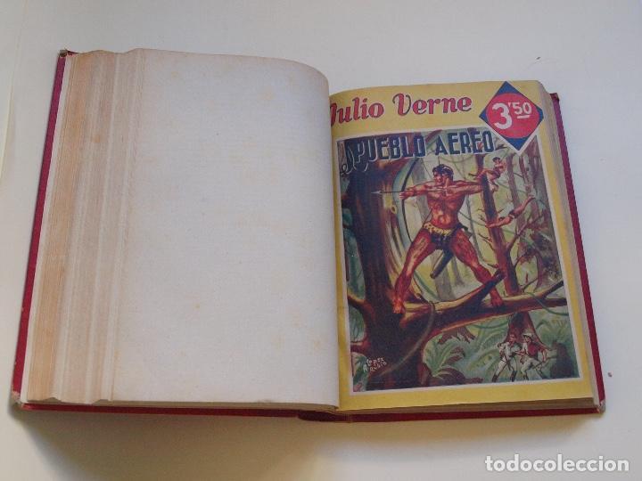 Cómics: DOS TOMOS ENCUADERNADOS CON 12 NOVELAS PULP DE JULIO VERNE DE LA EDITORIAL SÁENZ DE JUBERA - c. 1940 - Foto 45 - 147142546