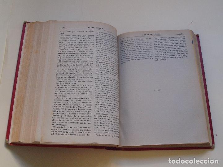 Cómics: DOS TOMOS ENCUADERNADOS CON 12 NOVELAS PULP DE JULIO VERNE DE LA EDITORIAL SÁENZ DE JUBERA - c. 1940 - Foto 46 - 147142546