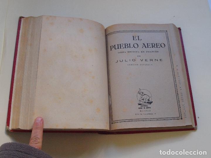 Cómics: DOS TOMOS ENCUADERNADOS CON 12 NOVELAS PULP DE JULIO VERNE DE LA EDITORIAL SÁENZ DE JUBERA - c. 1940 - Foto 48 - 147142546