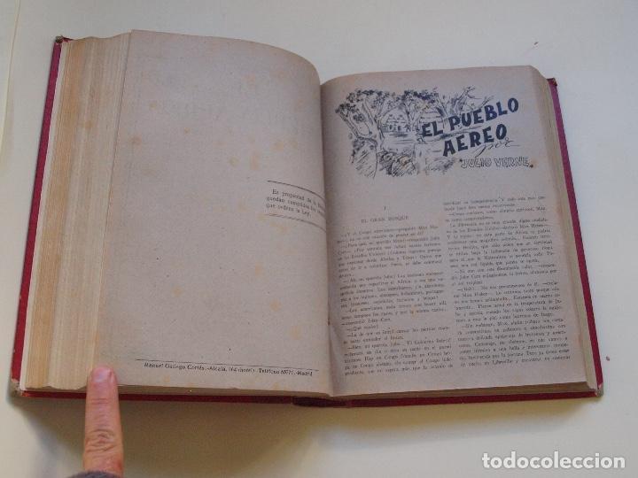 Cómics: DOS TOMOS ENCUADERNADOS CON 12 NOVELAS PULP DE JULIO VERNE DE LA EDITORIAL SÁENZ DE JUBERA - c. 1940 - Foto 49 - 147142546