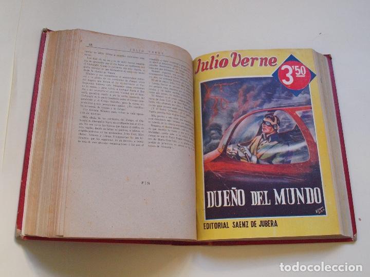 Cómics: DOS TOMOS ENCUADERNADOS CON 12 NOVELAS PULP DE JULIO VERNE DE LA EDITORIAL SÁENZ DE JUBERA - c. 1940 - Foto 50 - 147142546