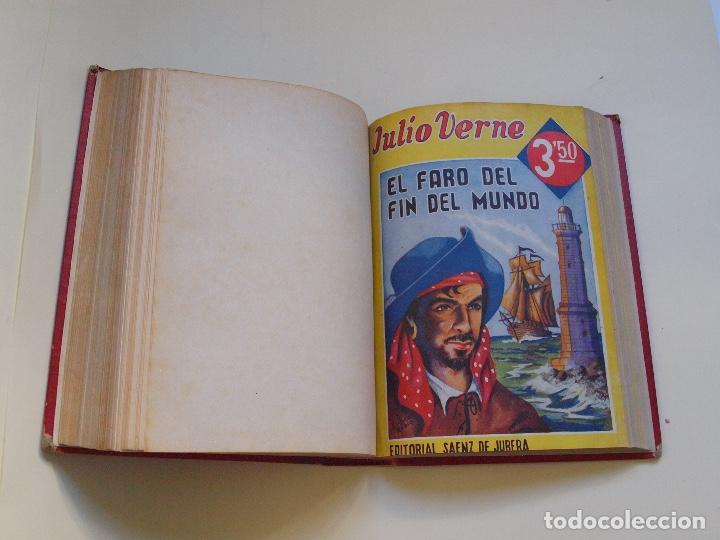 Cómics: DOS TOMOS ENCUADERNADOS CON 12 NOVELAS PULP DE JULIO VERNE DE LA EDITORIAL SÁENZ DE JUBERA - c. 1940 - Foto 53 - 147142546