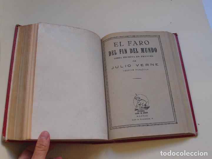 Cómics: DOS TOMOS ENCUADERNADOS CON 12 NOVELAS PULP DE JULIO VERNE DE LA EDITORIAL SÁENZ DE JUBERA - c. 1940 - Foto 54 - 147142546