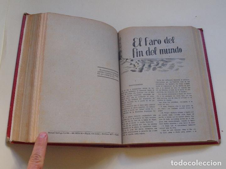 Cómics: DOS TOMOS ENCUADERNADOS CON 12 NOVELAS PULP DE JULIO VERNE DE LA EDITORIAL SÁENZ DE JUBERA - c. 1940 - Foto 55 - 147142546