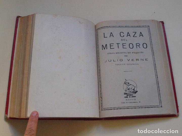 Cómics: DOS TOMOS ENCUADERNADOS CON 12 NOVELAS PULP DE JULIO VERNE DE LA EDITORIAL SÁENZ DE JUBERA - c. 1940 - Foto 58 - 147142546