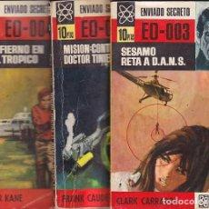 Cómics: ENVIADO SECRETO - NºS 2, 3 Y 5 - BRUGUERA 1967. Lote 147292598
